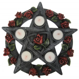 Nemesis Now Pentagram Rose Tealight Holder (Large)