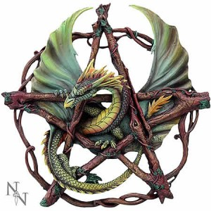 Nemesis Now Anne Stokes Forest Pentagram Dragon