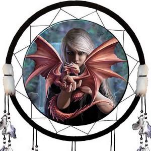 Nemesis Now Anne Stokes Dragonkin Dream Catcher
