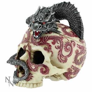 Nemesis Now Anne Stokes Eastern Dragon Skull Trinket Box