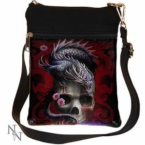 Nemesis Now Anne Stokes Eastern Dragon Skull Shoulder Bag
