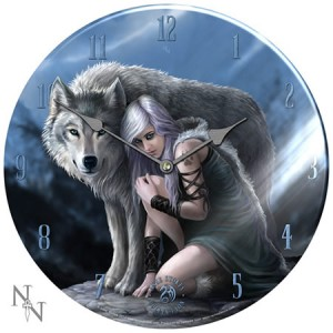 Nemesis Now Anne Stokes Protector Glass Clock