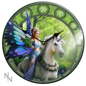 Nemesis Now Anne Stokes Realm of Enchantment Glass Clock