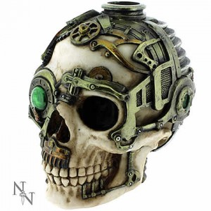 Nemesis Now Anne Stokes Steampunk Skull Candle Holder