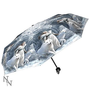 Nemesis Now Anne Stokes Winter Guardians Umbrella