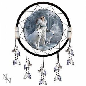 Nemesis Now Anne Stokes Winter Guardians Dream Catcher
