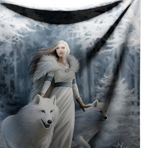 Nemesis Now Anne Stokes Winter Guardians Throw Cover