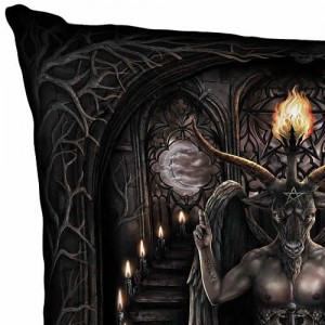 Nemesis Now Cushion Silk Finish Baphomet