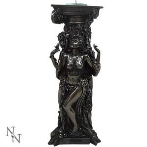 Nemesis Now Bronzed Triple Goddess Tealight Holder