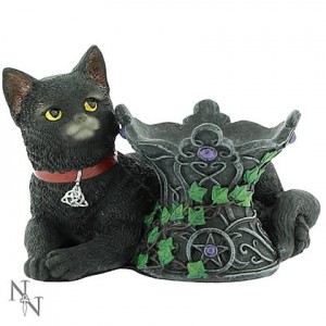 Nemesis Now Cats of Coven Figurines Cosmo (Ball sold separately)