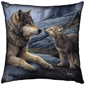 Nemesis Now Daniel Smith Brother Wolf Cushion Silk Finish