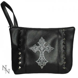 Nemesis Now Diamante Cross Bag