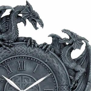 Nemesis Now Dragon Duel Wall  Clock