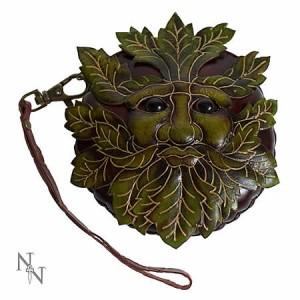 Nemesis Now Green Man Leather Purse
