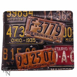 Nemesis Now License Plates Men's Wallet