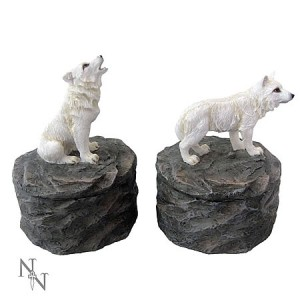 Nemesis Now Loyal Guardians (set of 2) Wolf Boxes
