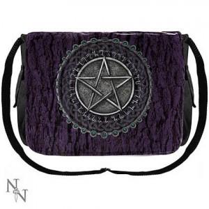 Nemesis Now Luna Lakota Purple Pentagram Messenger Bag