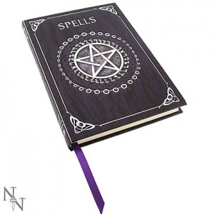 Nemesis Now Luna Lakota Purple Pentagram Embossed Spell Book