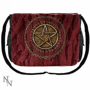 Nemesis Now Luna Lakota Red Pentagram Messenger Bag