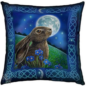 Nemesis Now Lisa Parker Moongazing Hare Soft Textile Cushion