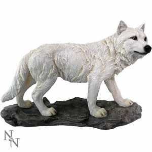 Nemesis Now Mountain Watcher Wolf Figurine