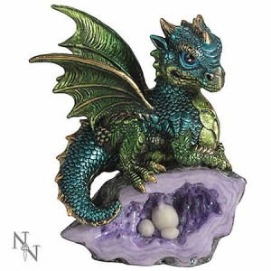 Nemesis Now Nest Guardian Dragon Blue Figurine
