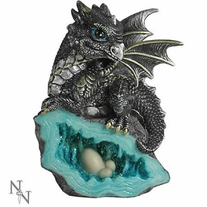 Nemesis Now Nest Guardian Dragon Grey Figurine