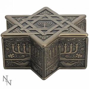 Nemesis Now Star of David and Menorah Box