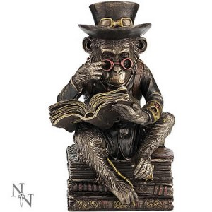 Nemesis Now Steampunk Chimpanzee Scholar Figurine