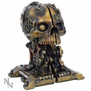 Nemesis Now Steampunk Cranial Steam Book Storage