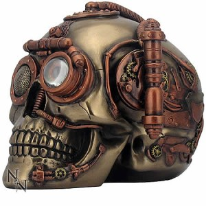 Nemesis Now Steampunk Steam Powered Observation Skull