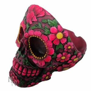 Nemesis Now Sugar Blossom Skull Ash Tray