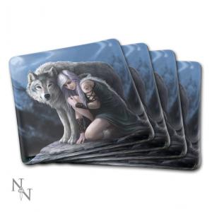 Nemesis Now Anne Stokes Wolves Coaster Set