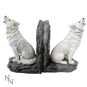 Nemesis Now Wardens of the North Wolf Bookends