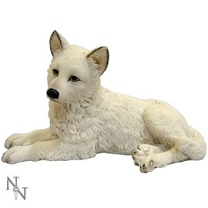 Nemesis Now Winter Wolf Pup Figurine