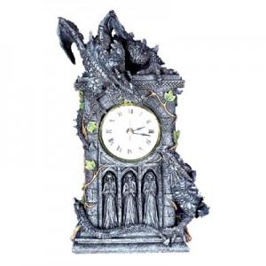 Nemesis Now Duelling Dragons Clock