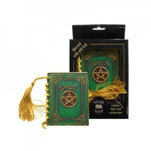 Nemesis Now Green Pocket Spell Book (Small)